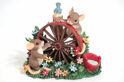 Charming Tails 88/137 Wheel Always Be Friends In Box water wheel bluebird