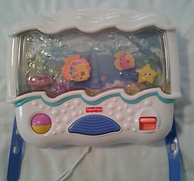 Fisher Price Ocean Wonders Aquarium Lights Sounds Musical Cot Toy Soother