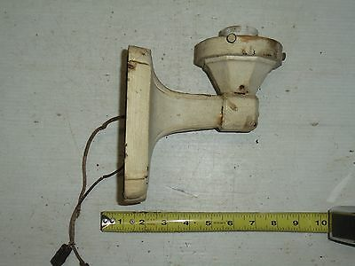 Vintage Cast Iron Light Sconce Antique Old Fixture Lamp Wall Outdoor Art Deco