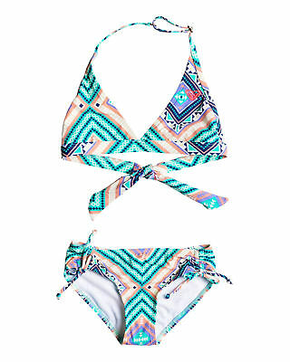NEW ROXY™  Girls 8-14 Hippie College Halter Bikini Set Teens Swimwear