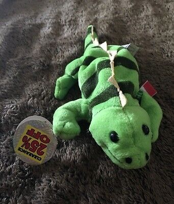 """Coca Cola 1998 Plush Paco Lizard Mexico  With A Coke Bottle 6"""" Tall New NWT#0223"""