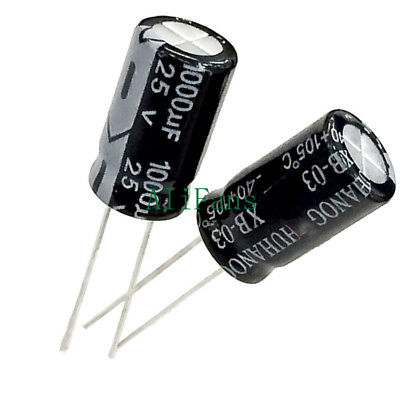 10PCS NEW 1000uF 25V 10mm*17mm Radial Electrolytic Capacitors