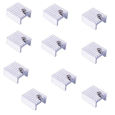 10/50/100Pcs Aluminum Heat Sink 17x15x7mm w/M3 Screw Kit for TO-220 Transistor
