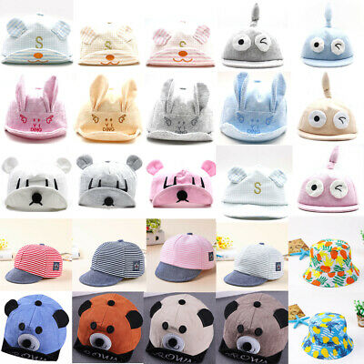 550cc8dadcd Boy Girl Cotton Summer Hat Toddler Infant Baby Baseball Cap Lots Styles