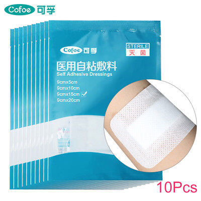 10PCs Medical Adhesive Wound Dressing Pad sterile Household Antibacterial Tool