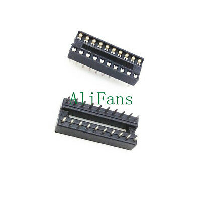 10PCS 20pin DIP IC Socket Adaptor Solder Type Socket Pitch Dual Wipe Contact AF