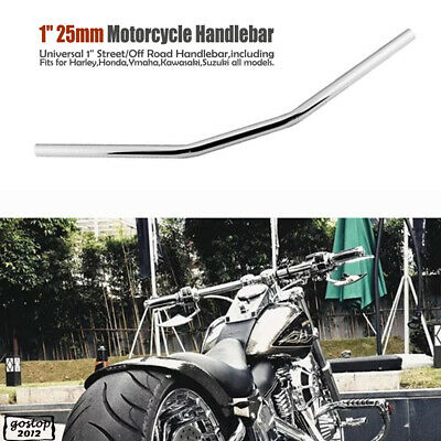 "Universal 1"" Inch 72.5cm Chrome Motorcycle Handlebar Treet Off Road Drag Bar"