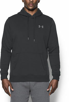 Under Armour Rival Mens Fitted Pull Over Running Hoody - Black