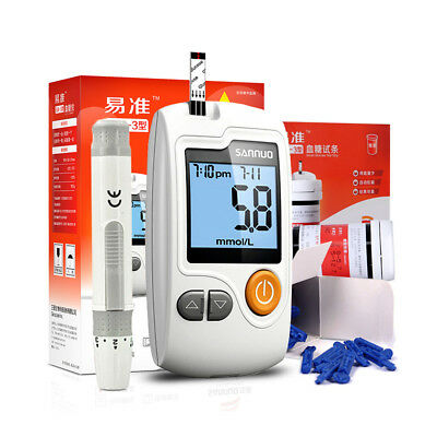 medical Blood Glucose no coding monitoring system meter 50 strips 50 Lancets