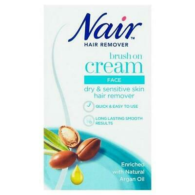 Nair Hair Remover Nourish Facial Brush On with Argan Oil 50ml 1 2 3 6 12 Packs