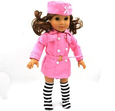 Handmade Fashion Pink Suit clothes dress for 18inch American girl doll party
