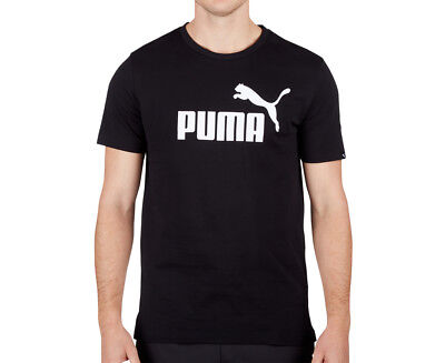 Puma Men's Ess No.1 Tee - Puma Black