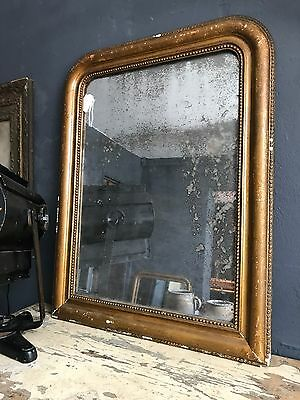 Stunning Antique 19th Century French Foxed Mirror