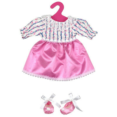Hot Handmade Pink Doll Clothes Lace Dress for 18 Inch American Girl Dolls