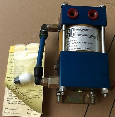 Compressed Air Pressure Booster 4:1 Fixed Output Ratio Pressure  4:1 Flow  1:4