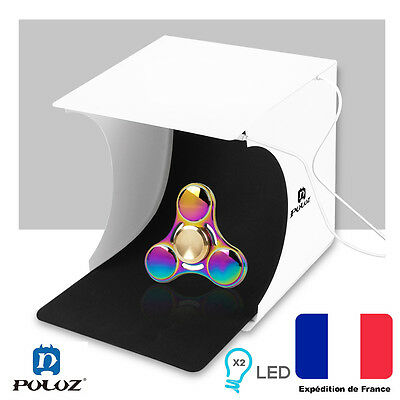 Photographie Studio Tente pliable boite lumiere 2LED Studio Photo Portable Puluz