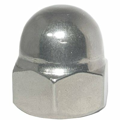 1/4-20 Acorn Cap Nuts Stainless Steel 18-8 Standard Height Quantity 10
