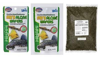 Hikari Mini Algae Wafers Aquarium Pleco 22g 85g 1kg Fish Food