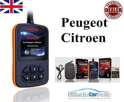 iCarsoft i970 Peugeot OBDII Engine Diagnostic Fault Scanner Airbag Abs Service