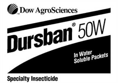 Dursban 50W Insecticide - 7 x 4 Oz. Packets