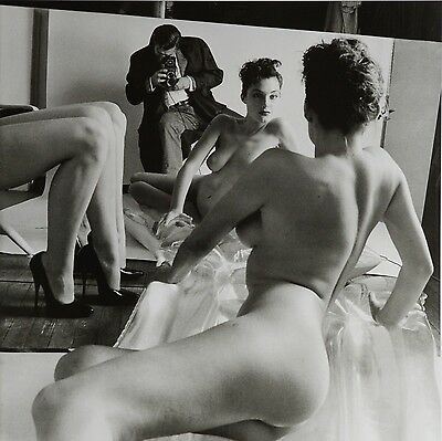 Helmut Newton Sumo Photo Print 50x70 Self-Portrait with models Vogue Paris 1981