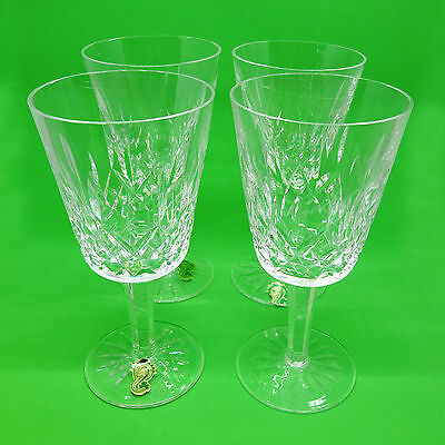 4pc Set Vintage Waterford Lismore Water Goblets, 6 7/8″ Tall