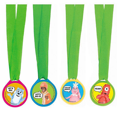 YO GABBA GABBA AWARD MEDALS (12) ~ Birthday Party Supplies Favors Nickelodeon