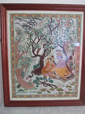 Indian Fabric Tapestry