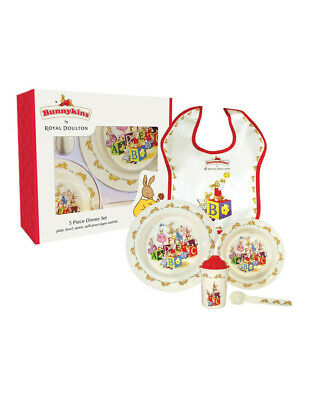 NEW Bunnykins ABC 5-piece Melamine Dinner Set Red