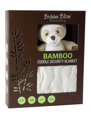 NEW Bubba Blue Bamboo Bear Security Blanket White