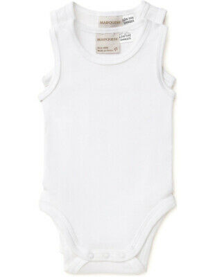 NEW Marquise 2 Pack Sleeveless Body Suit White