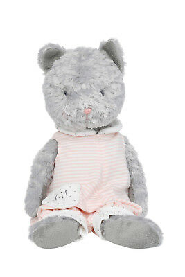 NEW Bunnies By The Bay Kit Grey Cat wearing Overalls