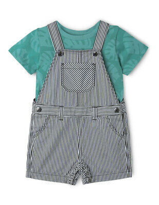 NEW Sprout Shortall & Tee Shirt Set Teal