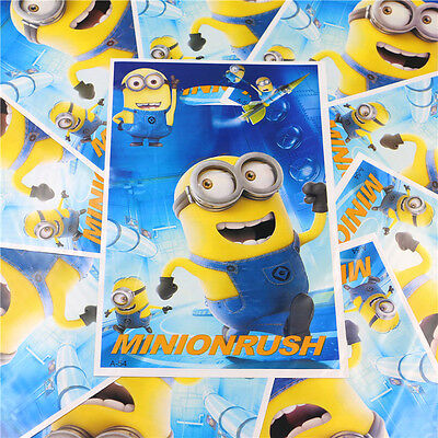 10 pcs Minions Gift Party Supplies Bag Wrap Go Candy Birthday Decoration