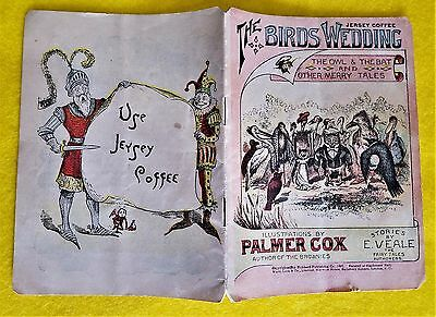 """Vintage 1897 """"the Birds Wedding"""" Illustrate By Palmer Cox - Adds - Jersey Coffee"""