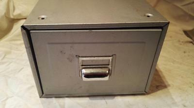 Mid Century Steel Card Index Filing Cabinet, Kingsbury Card Index File