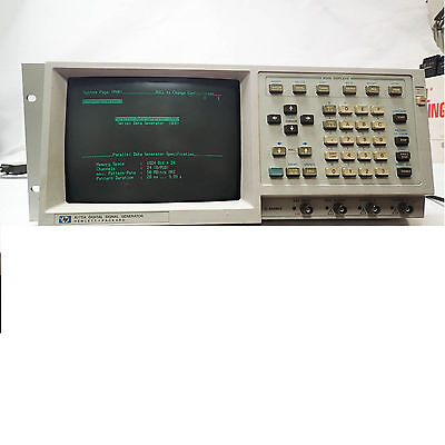 HEWLETT PACKARD 8175A DIGITAL SIGNAL GENERATOR including 15464A TTL POD