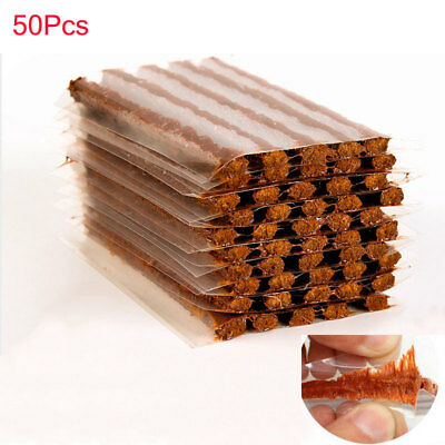 50Pcs Self Vulcanizing Tire Repair Plug Tubeless Seal Patch For Tyre Maintenance