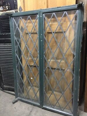 Metal Case Window  Diamond Leaded Glass