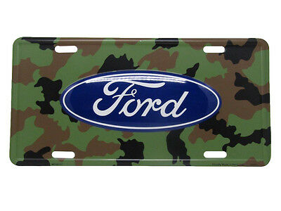 "Ford Camo Camouflage Woodland Cars Trucks SUVs 6""x12"" Aluminum License Plate Tag"