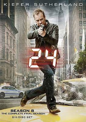 24: The Complete Eighth Season [6 Discs] DVD New, Free shipping