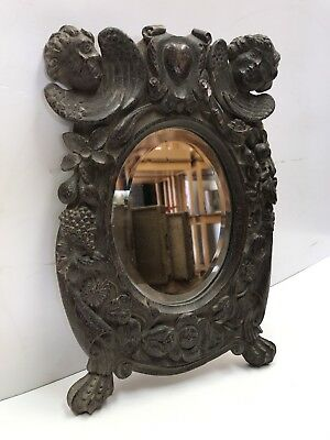 Nice Antique Black Forest Table Mirror. Open To Offers.