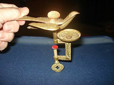 RARE Antique Vintage Brass Sewing Bird Pin Cushions
