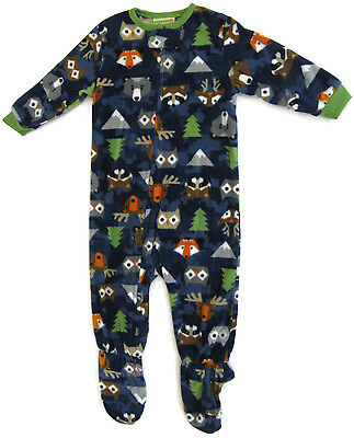 NEW Navy Woodland Creatures Footed Pajamas for Boys Peas & Carrots Sleeper