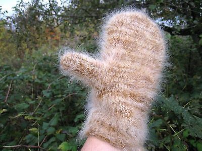 Men's MITTENS GLOVES HOMEMADE 100% GOAT DOWN yarn warm THICK soft Russian craft