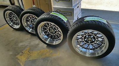 OS Hotwire 17 x 8 & 10 wheel & tyre package LH LX Torana HQ Ford XA XB XC coupe