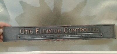 Beautiful Vintage Otis Elevator Controller Name Plate Sign 1920s Plated Iron