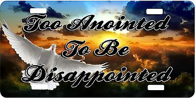 Any Text Personalized Custom License Plate Auto Car Tag Too Anointed