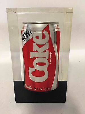 April 23, 1985 1st Run New Coke Can Memorialized in Lucite