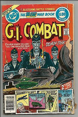 GI Combat #240 April 1982 DC Comics Nice Shape Demon Tank